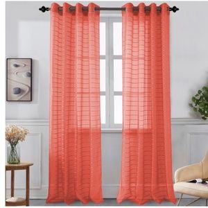 Glory Home Designs Accents - Karen Sheer Grommet-Top Single Curtain Panel_CLSHR